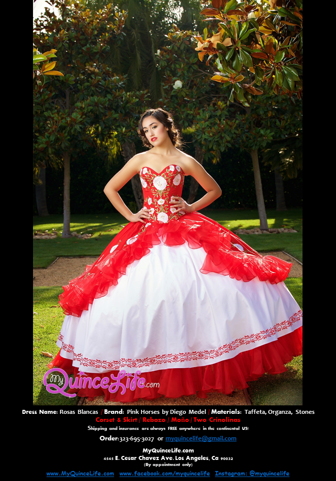 Charro style quinceanera dresses