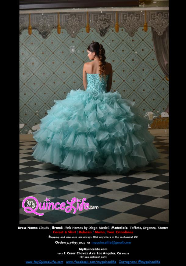 Vestido de Quinceanera bordado