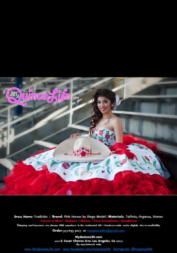 Vestido charro de Quinceanera