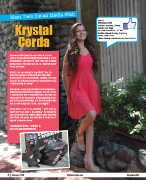 Teen social media star , Krystal cerda